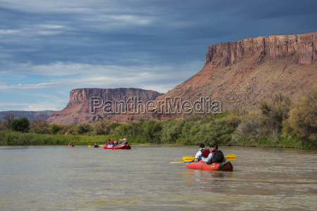 kayaking and rafting down the colorado