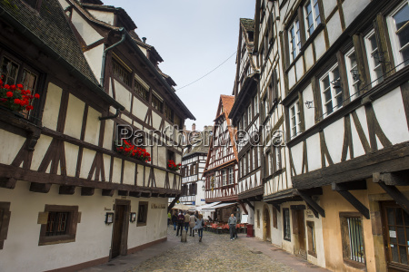 timbered houses in the quarter of