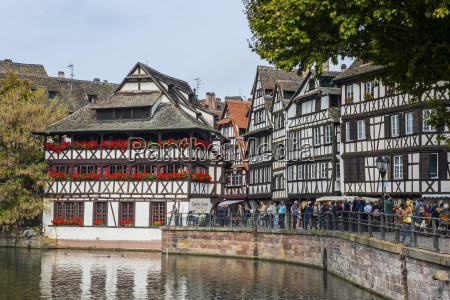 timbered houses and canal in the