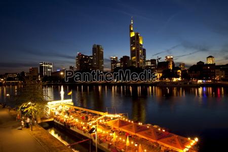 frankfurts skyline and the main river