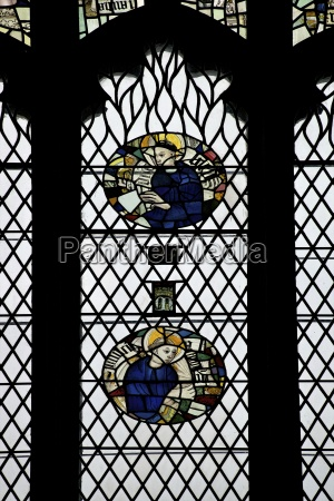monks in stained glass galilee chapel