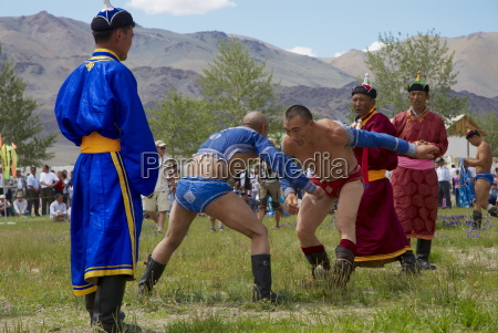 wrestling at the national naadam festival