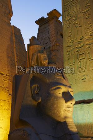 statue of the pharaoh ramesses ii