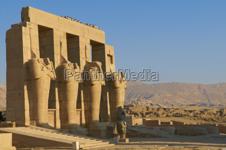 ramesseum temple west bank of the