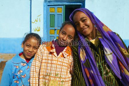 young egyptian girls ramadi village nile