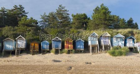 the colourful beach huts at wells