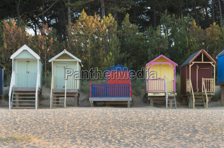 a view of beach huts at
