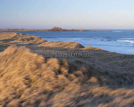 a view towards holy island from
