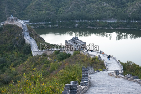 jintang lake beside the great wall
