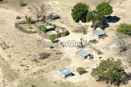 aerial view of local village impalila