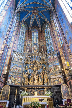 st marys basilica krakow poland europe