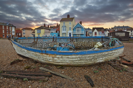 old fishing boat on beach aldeburgh