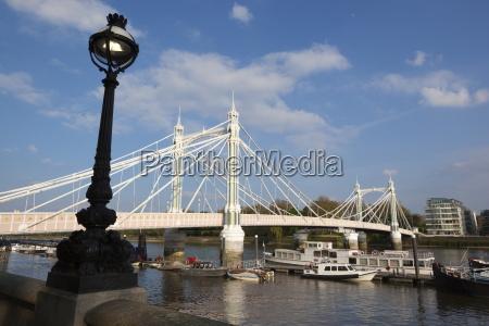 albert bridge on the river thames