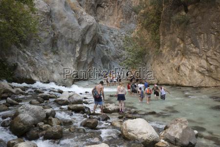 saklikent gorge near fethiye mugla province