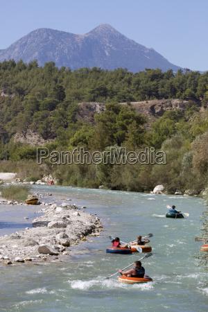 rubber ring rafting saklikent gorge near