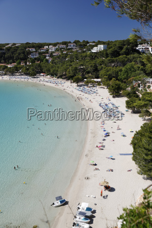 view over white sand beach cala