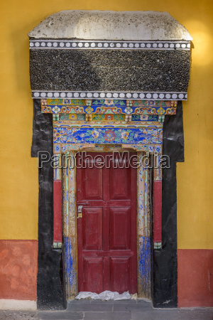 intricate decorations on a doorway at