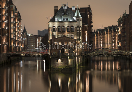 speicherstadt district hafencity hamburg germany europe