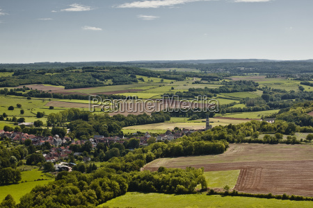 looking over the landscape of burgundy