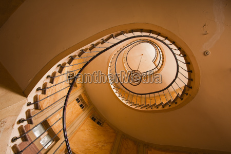 a spiral staircase in galerie vivienne