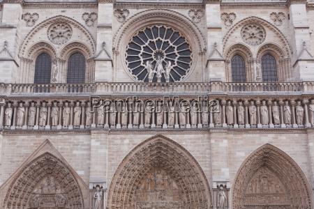 the facade of notre dame de