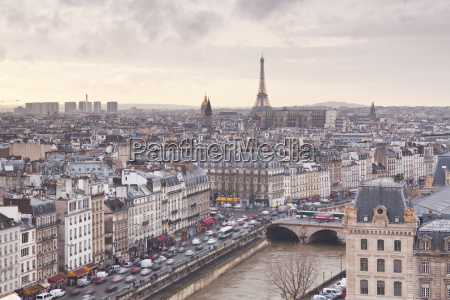 the city of paris as seen