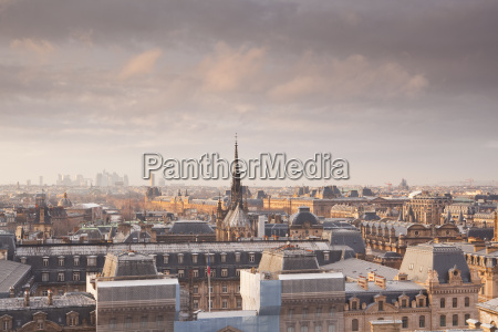 the rooftops of paris from notre