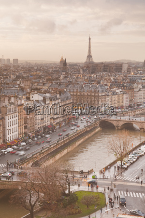 the city of paris from notre