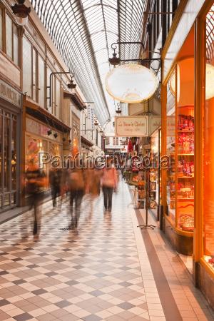 passage jouffroy in central paris france