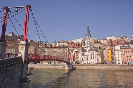 passerelle saint georges bridge old lyon