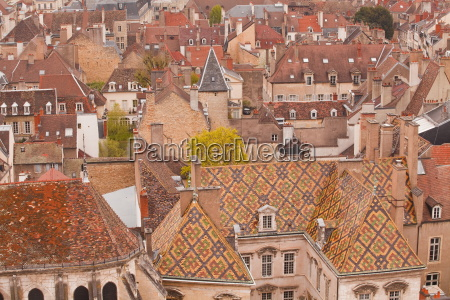 looking out over the rooftops of