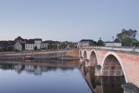 the old town of bergerac across
