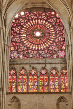 a rose window in saint pierre
