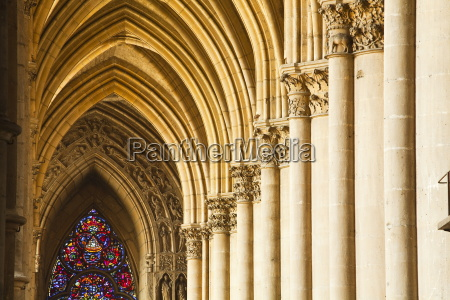 gothic arches and capitals inside the