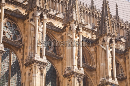 detail of the gothic architecture on