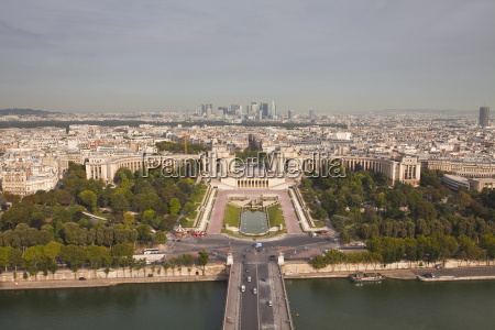 the jardins du trocadero from the