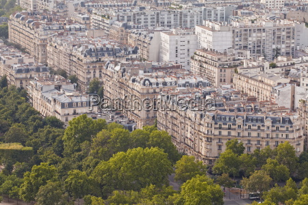 the rooftops of paris from the