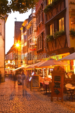 people wandering la petite france at