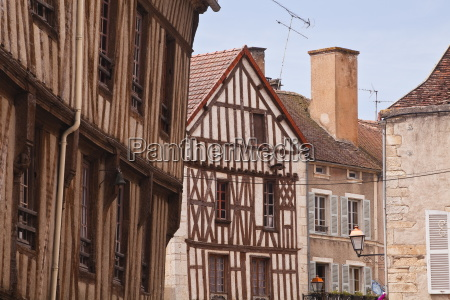 half timbered houses in the village