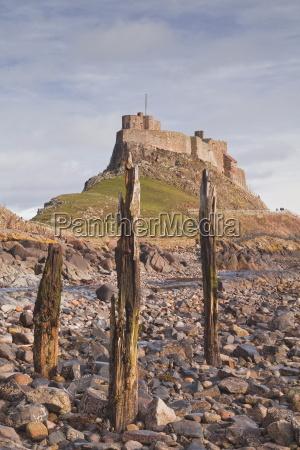 lindisfarne castle on holy island northumberland