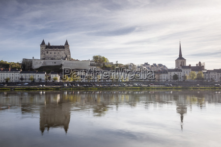 looking across the river loire towards