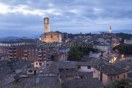 the rooftops of perugia with the