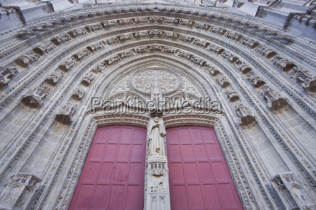the entrance to cathedral of saint