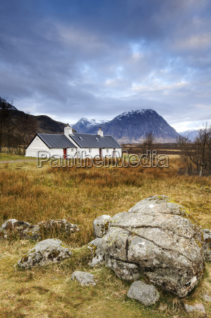 black rock cottages and buachaille etive