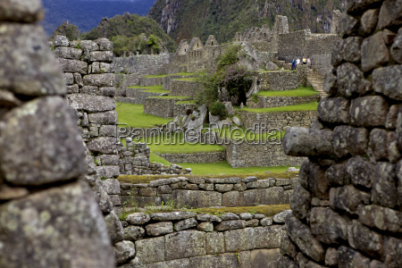 inca wall machu picchu peru peruvian