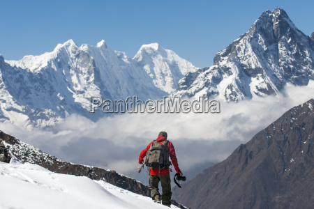 a photographer working in the everest