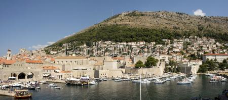 old harbour at dubrovnik croatia europe