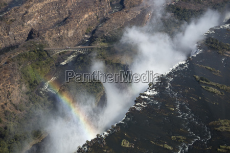 victoria falls aerial view unesco world