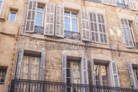 typical building facade in aix en