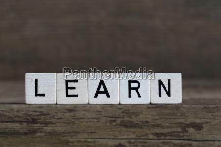 learn written in cubes